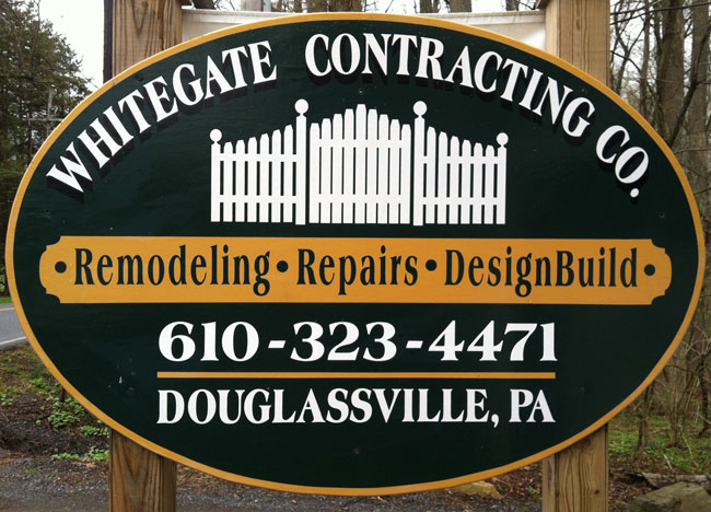 whitegate contracting sign